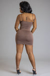 CHOCOLATE N BLACK MINI MEDI DRESS