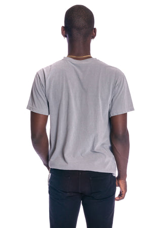 LIGHT GREY N WHITE MINI MEDI TEE