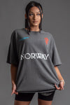 DARK GREY TEAM NORWAY TEE