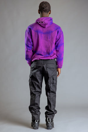 GUYS GRAPE DYED N YELLOW BURBS HOODIE