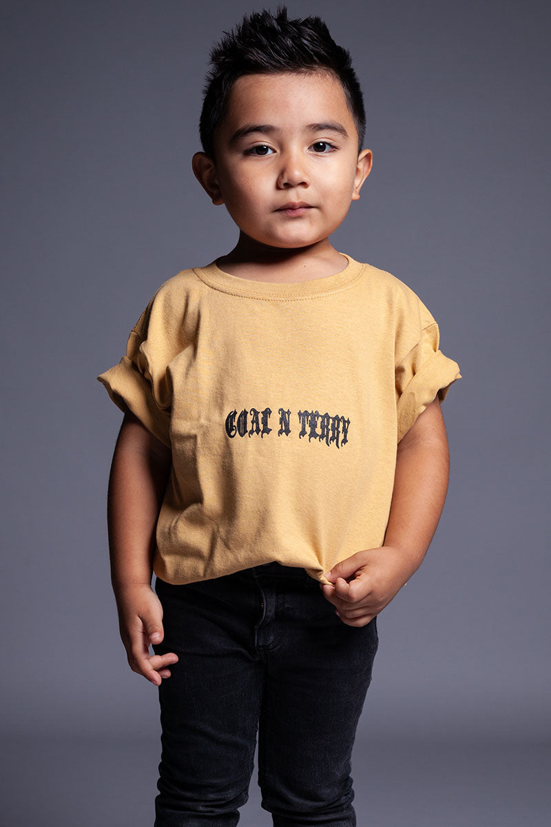KIDS MUSTARD MINI MEDI TEE