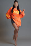 LONG SLEEVE BLEACHED ORANGE HATE ME TEE