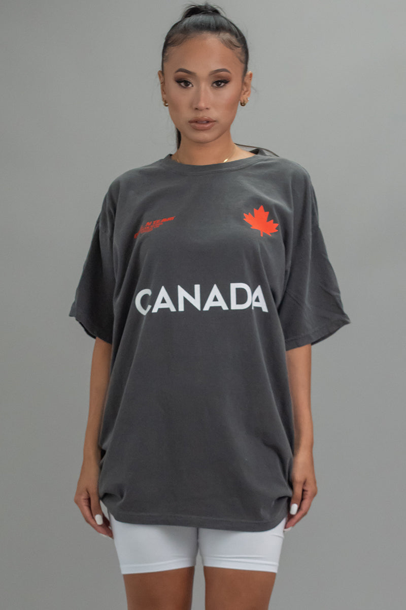 DARK GREY TEAM CANADA TEE