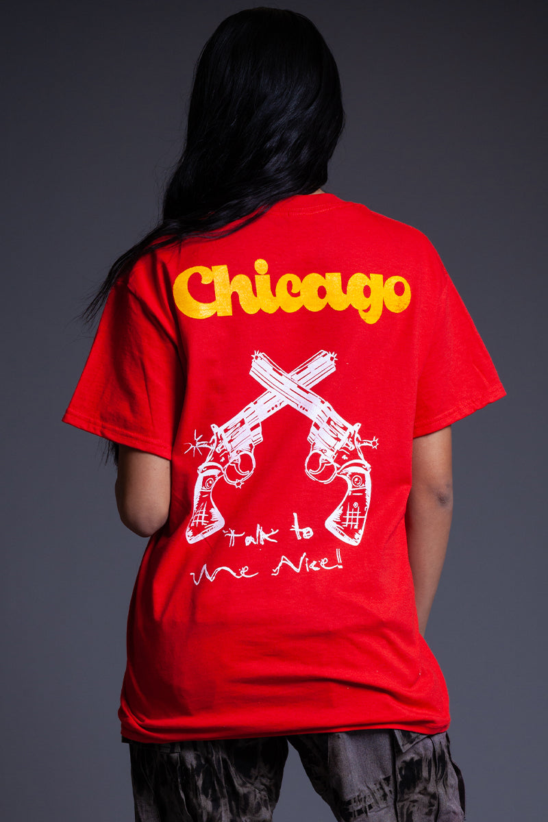 RED TALK TO ME NICE TEE