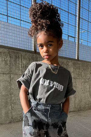 KIDS DARK GREY MINI MEDI TEE