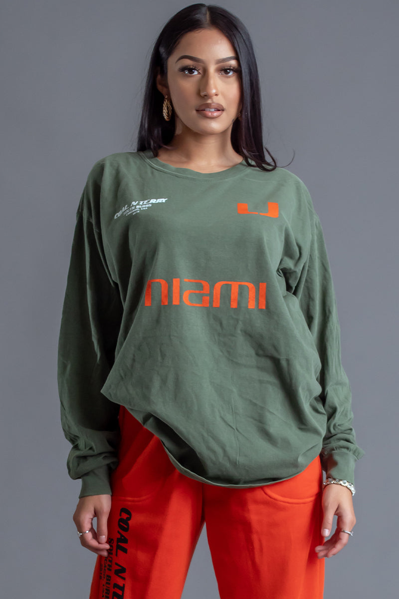 HEMP LONG SLEEVE TEAM MIAMI TEE