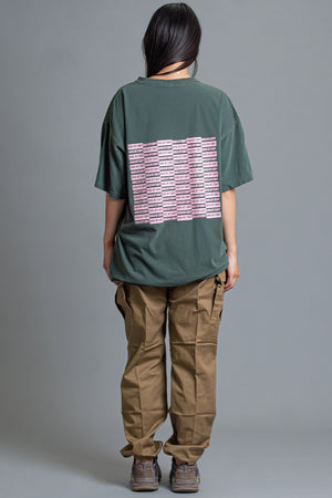 GREEN N PINK CHECKER TEE