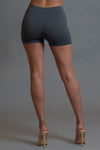 DARK GREY N WHITE MINI MEDI BIKER SHORTS