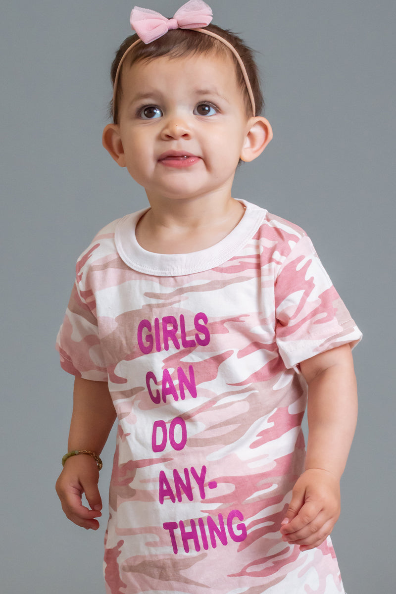 INFANT PINK CAMO ANYTHING TEE