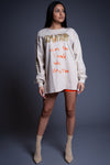 LONG SLEEVE SAND N ORANGE HATE ME TEE