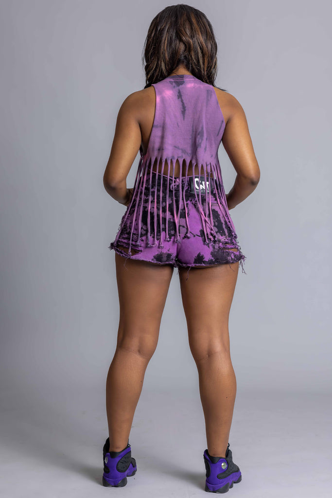 ORANGE N BLK MINI MEDI TEE