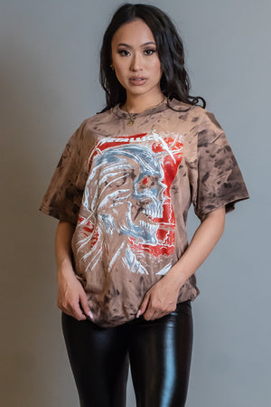FADED BIG SKULL METALLICA TEE