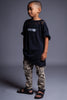 KIDS BLK N WHITE MINI MEDI TEE - DIS