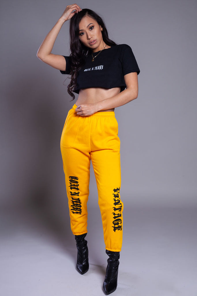 YELLOW N BLK TRAP JOGGER