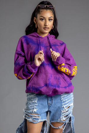 GRAPE DYED N YELLOW TRAP HOODIE