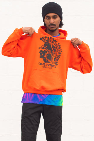GUYS HEMP N ORANGE TRAP HOODIE