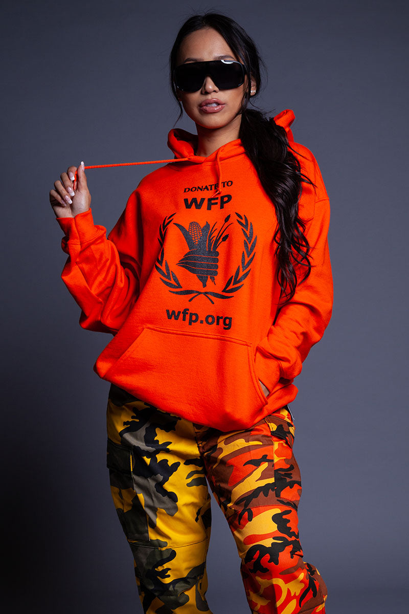 ORANGE DONATE HOODIE