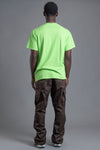 GUYS NEON GREEN TEAM NAIJA TEE
