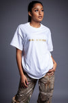 WHITE N GOLD CNT TEE