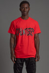 GUYS RED N BLK CNT OVERLAY TEE