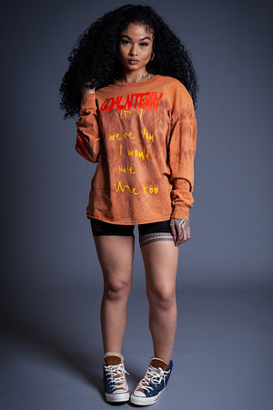 LONG SLEEVE RUSTED HATE ME TEE