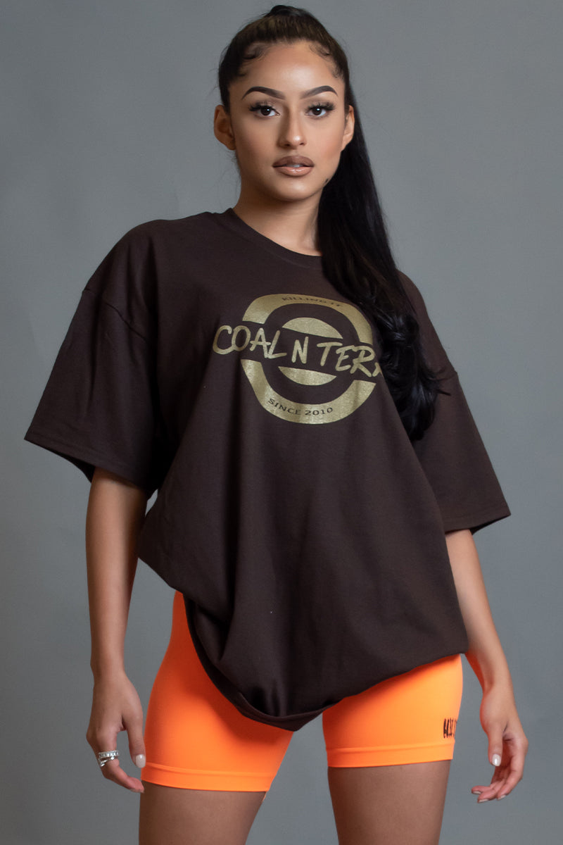 CHOCOLATE N GOLD KILLING IT TEE