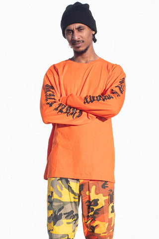 ASH N ORANGE MINI MEDI TEE