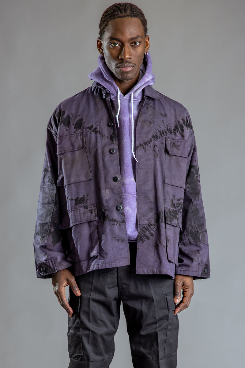 GUYS CNT COMBAT JACKET - PURPLE DYED