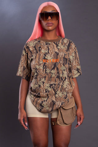 WEEZY MINI MEDI TEE - CHOCOLATE