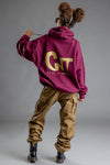 MAROON N GOLD CNT ACTION REBEL HOODIE