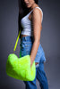NEON GREEN FUZZY PURSE