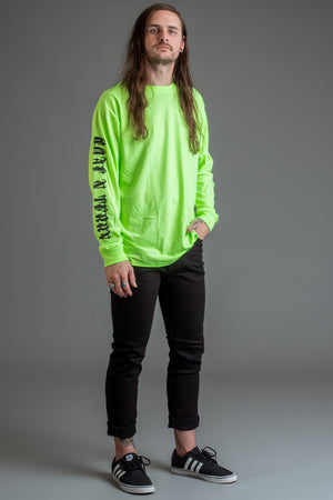 GUYS NEON GREEN N BLK TRAP TEE