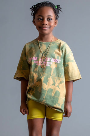 KIDS GREEN ACID N PINK BURBS TEE