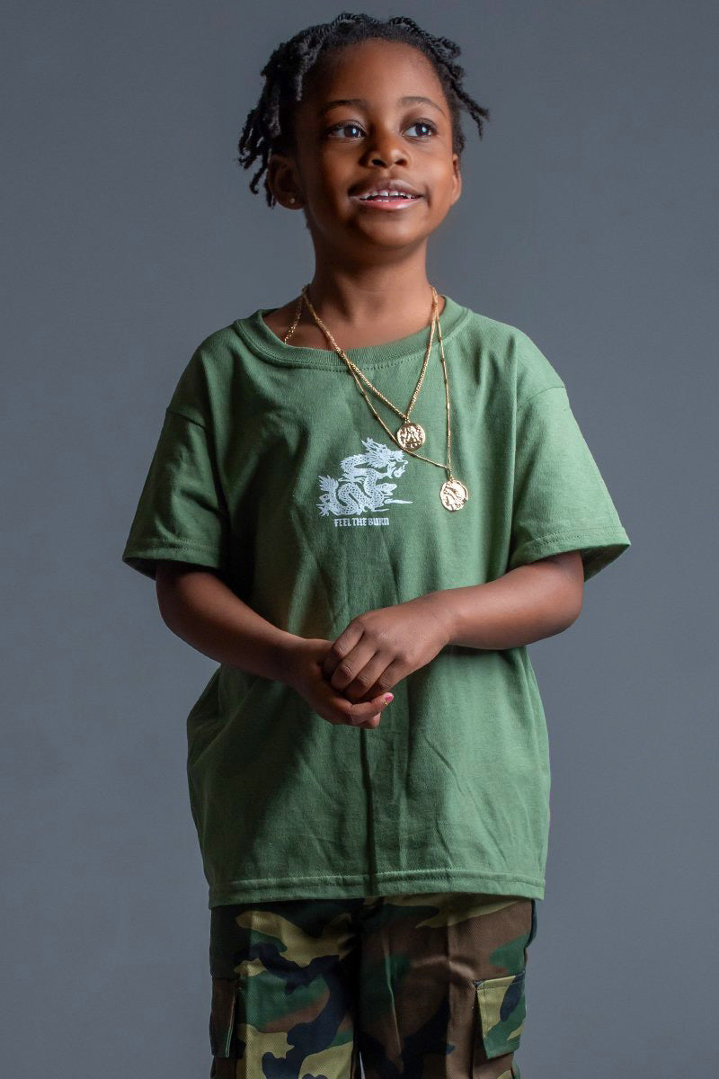 KIDS HEMP N WHITE FTB TEE