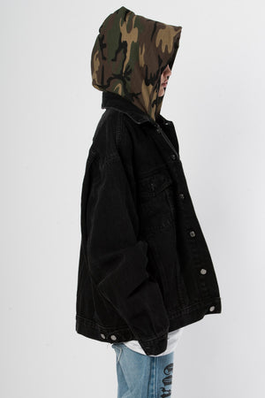 BLK Camo Denim Jacket