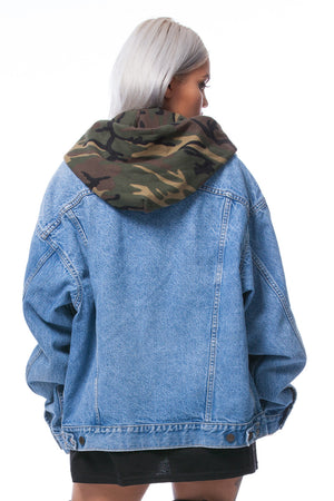 Camo Denim Jacket