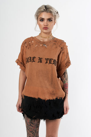 Distressed Zep Tee