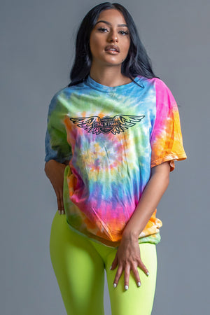 TIE DYE ANGELS CLUB TEE