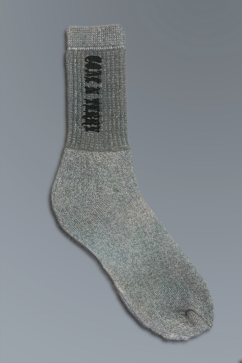 MINI MEDI SOCKS - GREY N BLK