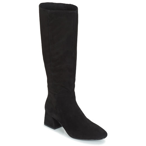 ALICE Black Suede Knee High Boots - Imeldas Shoes Norwich