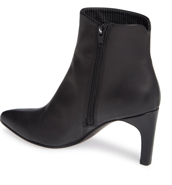 WHITNEY Black Heeled Ankle Boot - Imeldas Shoes Norwich