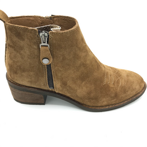 4441 Alpe suede jeans boot in Cuero with zip - Imeldas Shoes Norwich