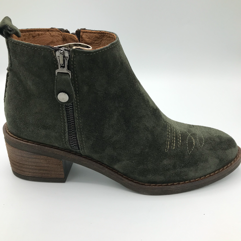 Alpe 4441 forest green suede jeans boot - Imeldas Shoes Norwich