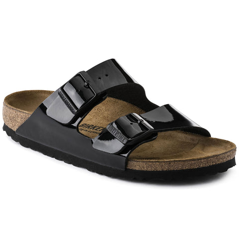 Arizona Black Patent sandal - Imeldas Shoes Norwich