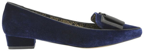 Liceu Navy Velvet V&A - Imeldas Shoes Norwich