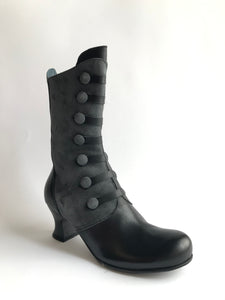 Vitello Camoscio Nero Antra - Imeldas Shoes Norwich