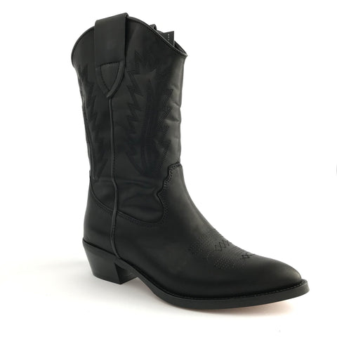 Black Cowboy Boot 4375 - Imeldas Shoes Norwich