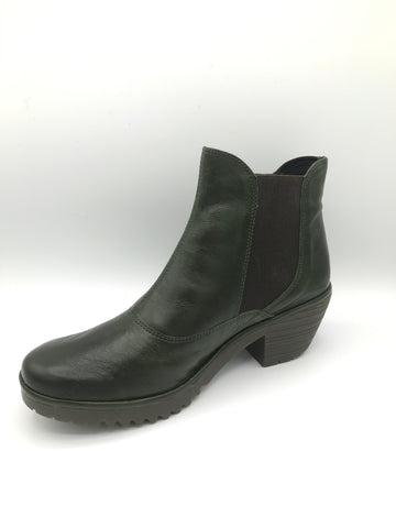 Wote Green Leather - Imeldas Shoes Norwich