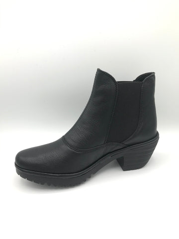Wote Black Leather - Imeldas Shoes Norwich