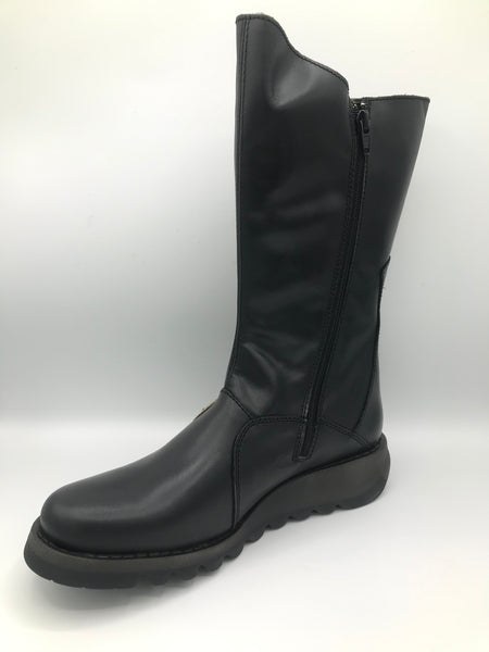 Mes 2 Black Leather Boot - Imeldas Shoes Norwich